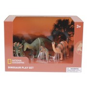 Set 4 figurine - Pachycephalosaurus, Ankylosaurus, Brachiosaurus si puiul