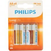 Philips Set van 4 voordelige Philips AA batterijen