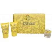 Versace diamant galbenpentru femei Mini set