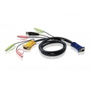 ATEN 2L-5301U :: KVM кабел, HD15 M + USB type A M + 2 Audio Plugs >> SHDB15 M + 2 Audio Plugs, 1.2 м