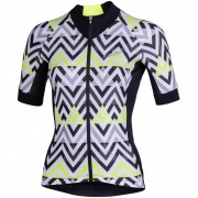 Nalini Raffinata Women's Short Sleeve Jersey - L - Black/Fuchsia
