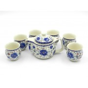 Set ceai Ming - Flori rosu-albastre (cod B11-2)