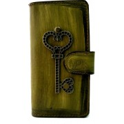 MP Case® Echt leer mystiek look met magneetsluiting Book case voor Apple iPhone 7 / 8 key figuur hoesje Echte lederen echt leder Premium Leer