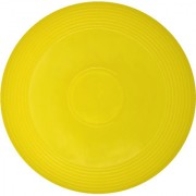 GSI Yellow Frisbee designed to catch wind for longer flight and cool outdoor family fun