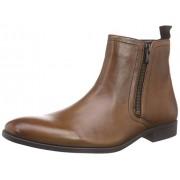 Clarks Men's Banfield Zip Tan Leather Boots - 10 UK