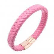Premium pink – mágneses bőr karkötő