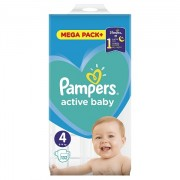 Scutece Pampers Active Baby 4 Mega Box 132 buc
