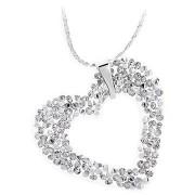 JSB Bijoux Szív Rock Swarovski® kristály kövekkel (fehér)