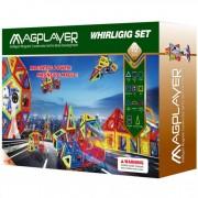 Joc de constructie magnetic 112 piese Magplayer
