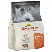Almo Nature 2kg Adult Rind & Reis Small Almo Nature Holistic Trockenfutter für Hunde