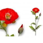 Floare de mac artificială- roșu,