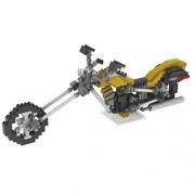 Segolike Creative Motorcycle Micro Building Blocks Diamond Building Blocks Kids Toys - yellow, Building Block (L x H): 8 x 5 mm