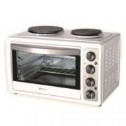 Печка с котлони Rohnson R 2128, 3300W, 28л., механично управление, светлинни индикатори за фурната и котлоните, бяла