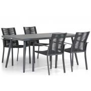 Santika Furniture Santika Annisa/Valencia 170 cm dining tuinset 5-delig