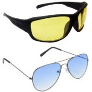 Hrinkar Sports Sunglasses(Yellow, Blue)
