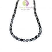 Colier obsidian sfere 4mm