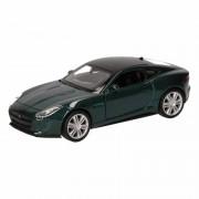 Jaguar Speelgoed Jaguar F-Type coupe donkergroen autootje 12 cm Groen