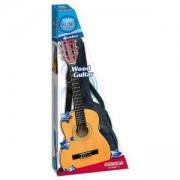 Комплект Дървена китара 75 см плюс калъф, 191303