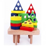 Education Wooden Toys Plan Toy Geometric Sorting Board 2 Kind For Choose Wooden Blocks