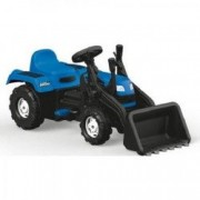Tractor Excavator Dolu Cu Pedale Albastru