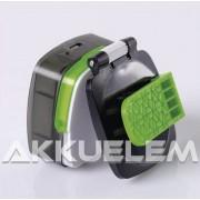 Fejlámpa 3W Cree + 4xSMD LED-ek, 850mAh tölthető P3535