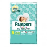 FATER SpA PAMPERS BABYDRY DWCT NO FLASH JUNIOR 17 PZ 5 TG