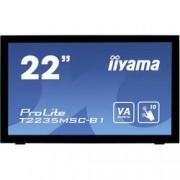 "Iiyama Dotykový monitor 54.6 cm (21.5 "") Iiyama T2235MSC-B1 N/A 16:9 6 ms USB, VGA, DVI, DisplayPort VA LED"