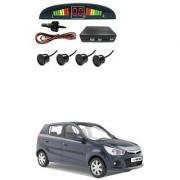 KunjZone Car Reverse Parking Sensor Black With LED Display Parking Sensor For Maruti Suzuki Alto K10