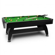 oneConcept Brighton Black Billiard Table 7' (122 x 82 x 214 cm) Accessory Green