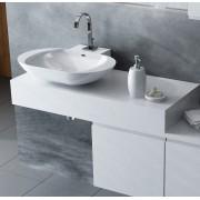 Antado Combi szafka z blatem lewym i umywalką Mia biały 666559/667686/666849