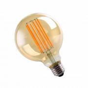 Silamp Ampoule E27 LED Filament 6W 220V COB G95 360 Globe Fumé - couleur eclairage : Blanc Chaud 2300K - 3500K