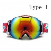 Gafas de capas dobles snowboard