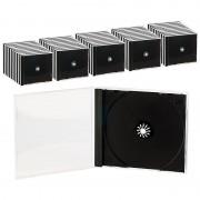Pearl Doppel CD Jewel Boxen im 50er-Set, schwarzes Tray