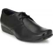 BIG JUNIOR Black Leather Look Office Formal Shoes Lace Up For Men(Black)