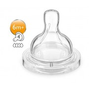 PHILIPS SpA Philips Avent tetinas Classic + A Fast Flow 4 agujeros + 6M 2 Piezas