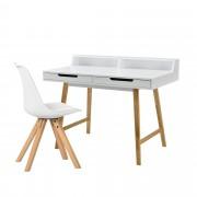 [en.casa]® Kancelársky stôl HTST-3265 so stoličkou