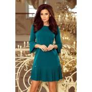 MyButik.pl Lucy Plisowana Wygodna Sukienka Niebieska S/M/L/XL/XXL