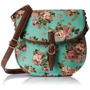 Lino Perros Women's Sling Bag (Turquise)