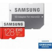 Card de Memorie Samsung EVO Plus microSDXC 128GB Clasa 10 100MBs UHS-I + Adaptor SD