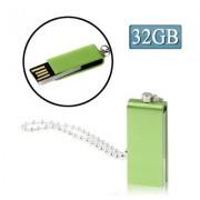 Mini Rotatable USB Flash Disk (32GB) Green