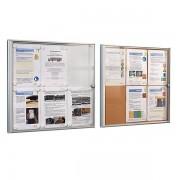 office akktiv Infokasten für Innen - Metallrückwand - 9 DIN A4-Blätter, HxB 963 x 711 mm, ab 5 Stk