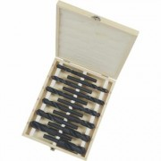 Klutch Silver and Deming Step Drill Bit Set - 1/2 Inch Diameter Shank, 12-Piece Set