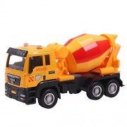 Ocamo 1:55 Push and Go Friction Powered Alloy ABS Metal Car Model Construction Trucks Toy Diecast Vehicle for Kids Birthday/Holiday Gifts