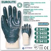 Manusi de protectie bumbac-nitril Actifresh 9410 albastru