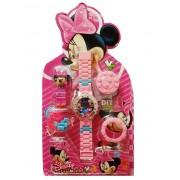 Ceas fetite tip lego cu Minnie Mouse