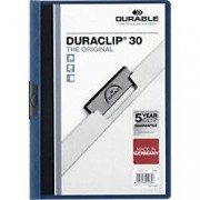 DURABLE Duraclip Clip Files A4 30 sheets 3 mm Blue