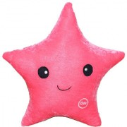 Oscar Home Star Shape Plush Fabric Pink Pillow Stuffed Toys For Babies and Kids