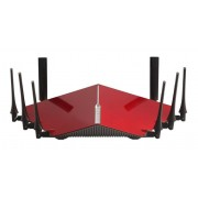D-Link DIR-895L/R router wireless Banda tripla (2.4 GHz/5 GHz/5 GHz) Gigabit Ethernet Nero, Rosso