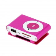 Mini Leitor MP3 Setty com Auscultadores - Rosa Choque