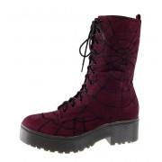 Telitalpú cipők női - IRON FIST - IFW005099-Burgundy